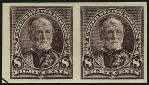 Sale Number 959, Lot Number 2576, 1895 Watermarked Bureau Issue (Scott 264-278)1c-10c 1895 Bureau Issue, Imperforate (264c, 268a, 272b, 273a), 1c-10c 1895 Bureau Issue, Imperforate (264c, 268a, 272b, 273a)