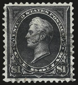 Sale Number 959, Lot Number 2600, 1895 Watermarked Bureau Issue (Scott 264-278)$1.00 Black, Ty. I (276), $1.00 Black, Ty. I (276)