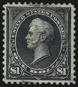 Sale Number 959, Lot Number 2604, 1895 Watermarked Bureau Issue (Scott 264-278)$1.00 Black, Ty. II (276A), $1.00 Black, Ty. II (276A)