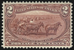 Sale Number 959, Lot Number 2625, 1898 Trans-Mississippi Issue (Scott 285-293)2c Trans-Mississippi (286), 2c Trans-Mississippi (286)