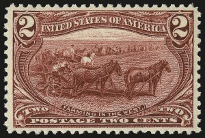 Sale Number 959, Lot Number 2626, 1898 Trans-Mississippi Issue (Scott 285-293)2c Trans-Mississippi (286), 2c Trans-Mississippi (286)