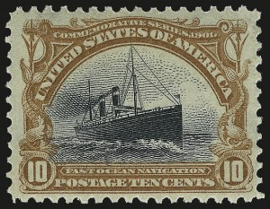 Sale Number 959, Lot Number 2687, 1901 Pan-American Issue (Scott 294-299)10c Pan-American (299), 10c Pan-American (299)