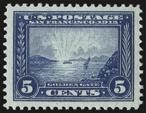 Sale Number 959, Lot Number 2817, 1913-15 Panama-Pacific Issue (Scott 397-404)5c Panama-Pacific (399), 5c Panama-Pacific (399)