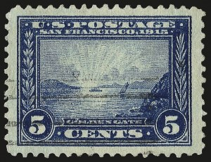 Sale Number 959, Lot Number 2820, 1913-15 Panama-Pacific Issue (Scott 397-404)5c Panama-Pacific (399), 5c Panama-Pacific (399)