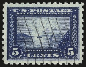 Sale Number 959, Lot Number 2840, 1913-15 Panama-Pacific Issue (Scott 397-404)5c Panama-Pacific, Perf 10 (403), 5c Panama-Pacific, Perf 10 (403)