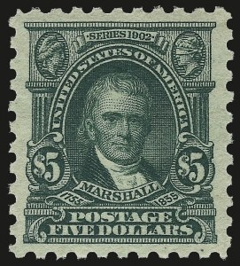 Sale Number 959, Lot Number 2934, 1916-17 Issues (Scott 462-480)$5.00 Light Green (480), $5.00 Light Green (480)