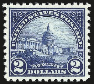 Sale Number 959, Lot Number 3011, 1922-29 Issues (Scott 551-621)$2.00 Deep Blue (572), $2.00 Deep Blue (572)