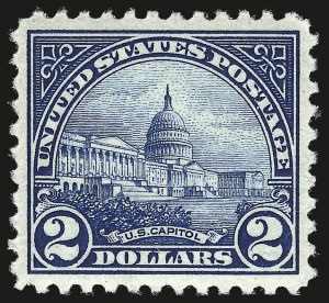 Sale Number 959, Lot Number 3012, 1922-29 Issues (Scott 551-621)$2.00 Deep Blue (572), $2.00 Deep Blue (572)