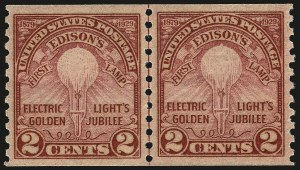 Sale Number 959, Lot Number 3046, 1925 and Later Issues (Scott 628-723)2c Edison, Coil (656), 2c Edison, Coil (656)