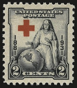 Sale Number 959, Lot Number 3063, 1925 and Later Issues (Scott 628-723)2c Red Cross (702), 2c Red Cross (702)