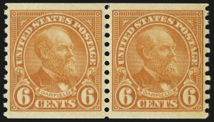 Sale Number 959, Lot Number 3064, 1925 and Later Issues (Scott 628-723)6c Deep Orange, Coil (723), 6c Deep Orange, Coil (723)