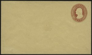 Sale Number 959, Lot Number 3249, Postal Stationery3c Red on Buff entire, Die I (U2), 3c Red on Buff entire, Die I (U2)