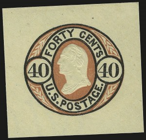 Sale Number 959, Lot Number 3254, Postal Stationery40c Black & Red on Buff (U45), 40c Black & Red on Buff (U45)