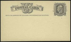 "Sale Number 959, Lot Number 3257, Postal Stationery1c Black on Buff Postal Card, Watermarked Small ""USPOD"" in Monogram (UX4), 1c Black on Buff Postal Card, Watermarked Small ""USPOD"" in Monogram (UX4)"
