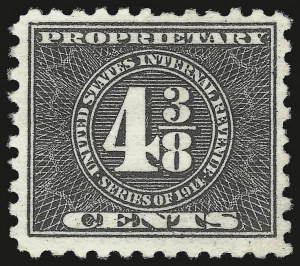 Sale Number 959, Lot Number 3278, Revenues (Proprietary thru Consular Service)4-3/8c Black, , 1914 Issue, Proprietary (RB42), 4-3/8c Black, , 1914 Issue, Proprietary (RB42)