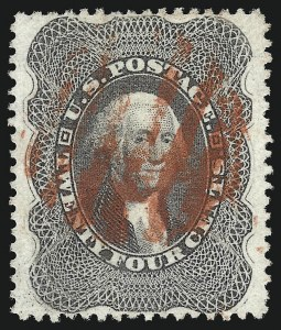 Sale Number 961, Lot Number 34, 1857-60 Issue24c Gray Lilac (37), 24c Gray Lilac (37)