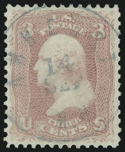 Sale Number 961, Lot Number 38, 1861-66 Issue3c Pink (64), 3c Pink (64)