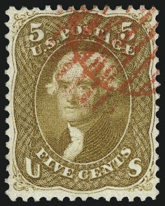 Sale Number 961, Lot Number 40, 1861-66 Issue5c Buff (67), 5c Buff (67)