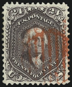 Sale Number 961, Lot Number 44, 1861-66 Issue24c Red Lilac (70), 24c Red Lilac (70)
