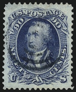 Sale Number 961, Lot Number 46, 1861-66 Issue90c Blue (72), 90c Blue (72)