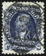 Sale Number 961, Lot Number 66, 90c Blue, Re-Issue (111)