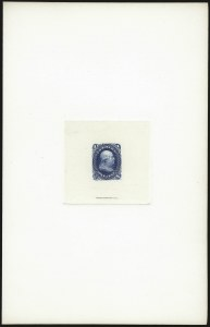 Sale Number 962, Lot Number 2054, Essays, Proofs and Specimens  (1861 Issue thru 1869 Pictorials)1c Blue, Large Die Proof on India (63P1), 1c Blue, Large Die Proof on India (63P1)