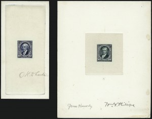 Sale Number 962, Lot Number 2133, Essays, Proofs and Specimens (Later Issues)$2.00 Dark Blue, $5.00 Dark Green, Large Die Proofs (262P1-263P1), $2.00 Dark Blue, $5.00 Dark Green, Large Die Proofs (262P1-263P1)