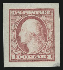 Sale Number 962, Lot Number 2144, Essays, Proofs and Specimens (Later Issues)$1.00 Pink, Small Die Trial Color Proof (342TC2), $1.00 Pink, Small Die Trial Color Proof (342TC2)
