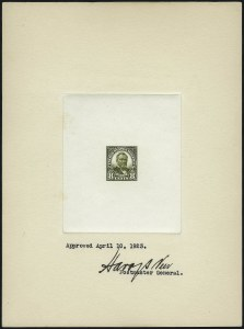 Sale Number 962, Lot Number 2145, Essays, Proofs and Specimens (Later Issues)8c Olive Green, Large Die Proof on White Wove (560P1a), 8c Olive Green, Large Die Proof on White Wove (560P1a)