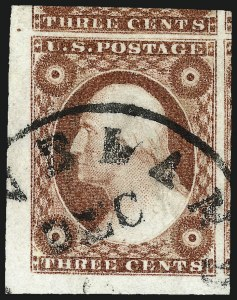 Sale Number 962, Lot Number 2234, 1851-56 Issue (Scott 5-17)3c Brownish Carmine, Ty. II (11A), 3c Brownish Carmine, Ty. II (11A)