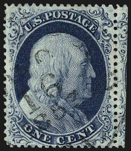 Sale Number 962, Lot Number 2268, 1857-60 Issue (Scott 18-39)1c Blue, Ty. IIIa (22), 1c Blue, Ty. IIIa (22)