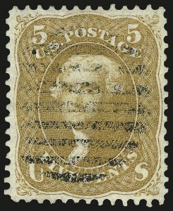 Sale Number 962, Lot Number 2326, 1861-66 Issue (Scott 62B-78)5c Brown Yellow (67a), 5c Brown Yellow (67a)