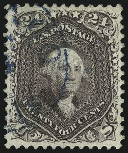 Sale Number 962, Lot Number 2328, 1861-66 Issue (Scott 62B-78)24c Red Lilac (70), 24c Red Lilac (70)
