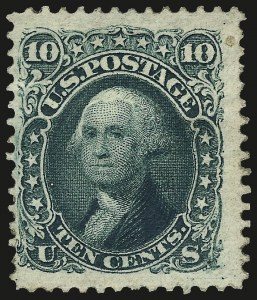 Sale Number 962, Lot Number 2369, 1875 Re-Issue of 1861-66 Issue (Scott 102-111)10c Green, Re-Issue (106), 10c Green, Re-Issue (106)