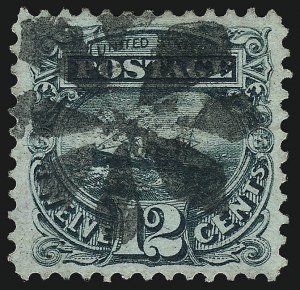 Sale Number 962, Lot Number 2387, 1869 Pictorial Issue (Scott 112-122)12c Green (117), 12c Green (117)