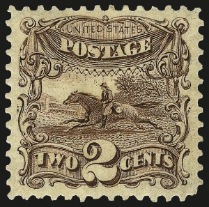 Sale Number 962, Lot Number 2405, 1875 Re-Issue of 1869 Pictorial Issue (Scott 123-133)2c Brown, Re-Issue (124), 2c Brown, Re-Issue (124)