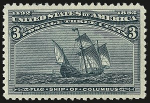 Sale Number 962, Lot Number 2487, Columbian Issue (Scott 230-245)3c Columbian (232), 3c Columbian (232)