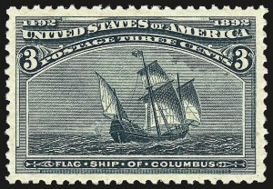 Sale Number 962, Lot Number 2488, Columbian Issue (Scott 230-245)3c Columbian (232), 3c Columbian (232)