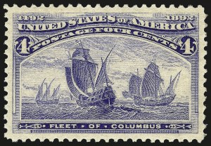 Sale Number 962, Lot Number 2491, Columbian Issue (Scott 230-245)4c Columbian (233), 4c Columbian (233)