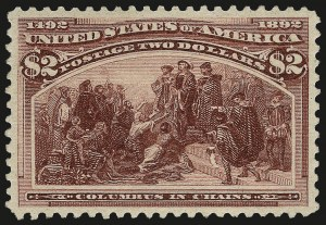 Sale Number 962, Lot Number 2518, Columbian Issue (Scott 230-245)$2.00 Columbian (242), $2.00 Columbian (242)