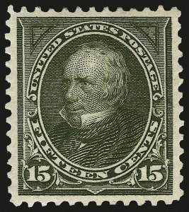 Sale Number 962, Lot Number 2569, 1894-98 Bureau Issues (Scott 246-284)15c Olive Green (284), 15c Olive Green (284)