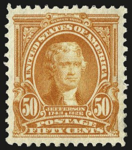 Sale Number 962, Lot Number 2619, 1902-08  thru Jamestown Issues (Scott 300-330)50c Orange (310), 50c Orange (310)