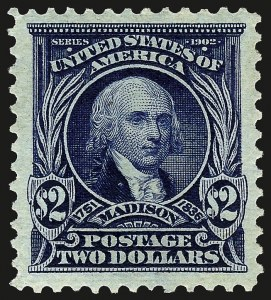 Sale Number 962, Lot Number 2624, 1902-08  thru Jamestown Issues (Scott 300-330)$2.00 Dark Blue (312), $2.00 Dark Blue (312)