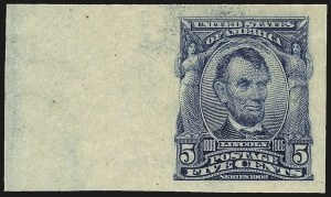 Sale Number 962, Lot Number 2629, 1902-08  thru Jamestown Issues (Scott 300-330)5c Blue, Imperforate (315), 5c Blue, Imperforate (315)