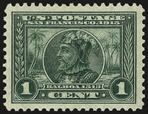 Sale Number 962, Lot Number 2699, Panama-Pacific Issue (Scott 397-404)1c Panama-Pacific (397), 1c Panama-Pacific (397)