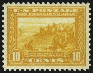 Sale Number 962, Lot Number 2703, Panama-Pacific Issue (Scott 397-404)10c Orange Yellow, Panama-Pacific (400), 10c Orange Yellow, Panama-Pacific (400)