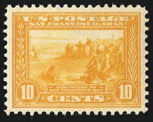 Sale Number 962, Lot Number 2705, Panama-Pacific Issue (Scott 397-404)10c Orange Yellow, Panama-Pacific (400), 10c Orange Yellow, Panama-Pacific (400)