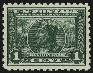 Sale Number 962, Lot Number 2709, Panama-Pacific Issue (Scott 397-404)1c Panama-Pacific, Perf 10 (401), 1c Panama-Pacific, Perf 10 (401)