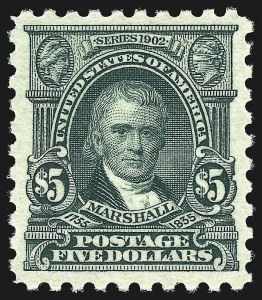 Sale Number 962, Lot Number 2762, 1912-23 Issues (Scott 405-524)$5.00 Light Green (480), $5.00 Light Green (480)