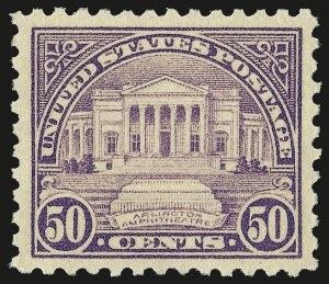 Sale Number 962, Lot Number 2856, 1922-26 and Later Issues (Scott 551-599A)50c Lilac (570), 50c Lilac (570)